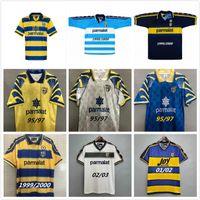 Parma Calcio Retro Soccer Jersey Classic 1995 1997 2003 95 97 97 99 00バギジオ・クレスポ・キャンナバロヴィンテージサッカーシャツStoichkov Thuram 01 03
