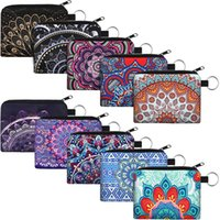 Mandala Small Coin Boho Change Purse Pouch Mini Wallet Storage Bag with Zipper Exquisite Present for Women Girls