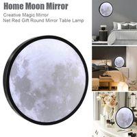 Mirrors Magic Moon Mirror Dressing LED Sci-Fi Novelty Beauty Home Decor Room Living Decoration Night Light