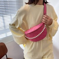 Lingge Female Bag Fashion Strap 2021 New Trendy Wide Chain Yangqi Net Messenger Red Shoulder Summer Chest Pearl Bcoce