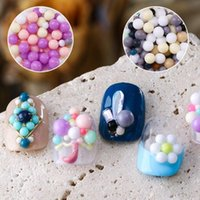 Nail Art Decorations Mixed Candy Color Resin Beads 3D Multicolored Small Ball DIY Manicure Accessories