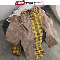 Lappster-Youth Streetwear Calças Maduras Pretas Homens Jogos 2021 Mens Harem Harem Coreano Calças de Hip Hop Plus Size Men's