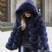 Fashion Artificial Fur Coat Women Girls 3 4 Sleeve Fluffy Faux Fur Short Thick Coats Jacket Furry Party Overcoat Winter