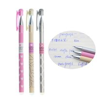 Gel Pens 3pcs Cute Cartoon Pupils Can Wipe The Pen Full Needle 0.38mm Easy To Erasable Writing Quality Smooth