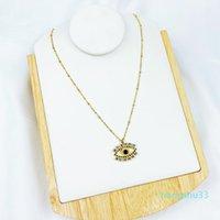 Earrings & Necklace Trendy Cubic Zirconia Pendant Of Fatima Lips Evil Eye Women Party Wedding Birthday Jewelry Gift