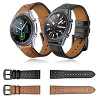 For Samsung Galaxy Watch3 Genuine Leather Watchband 45mm 41mm Strap Watch 3 Band Bracelet Replacement Accessories Bands