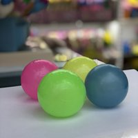 4.5CM toy Ceiling Sticky Wall Ball Luminous Glow In The Dark Squishy Anti Stress Balls Stretchable Soft Squeeze Adult Kids Toys Party Gift