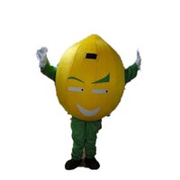 Professional Yellow Fruit Mascot Costume Halloween Christmas Fancy Party Dress Lemon Cartoon Character Suit Carnival Unisex Adults Outfit