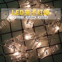 Lampy LED Strings Dekoracja Party Tło ściany Zdjęcia Lekkie Ciąg Clip Photo Album Box