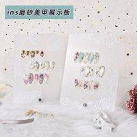 Manicure Giapponese Board Trasparente Acrilico Trasparente Prodotti di stampa Strumenti di visualizzazione Strumenti PO Puntelli