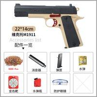 M1911 WASSER BULLET Crystal Bomb Manuelle Spielzeugwaffe Pistole Luftgewehr mit Kugeln Ziel für Erwachsene Kinder im Freien Spiele