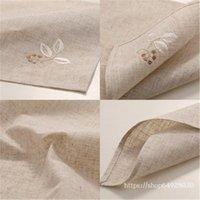 Table Napkin 6   PCS Batch Linen Embroidered Cloth, Meal Mat, Western Napkin, Tea Towel 40 * 40cm