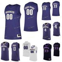 NCAA College Washington Huskys Jersey di pallacanestro 0 Jaden McDaniels Quade Green 1 David croccante nate roberts personalizzato cucito