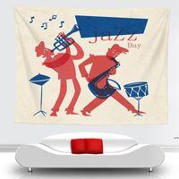 Yenilik Sanat Müzik Not Desen Goblen Asılı Duvar Battaniyeleri Hafif Polyester Kumaş Duvar Dekor Ev Müzik Lover DWB7004