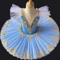 Tutú profesional de ballet para adultos Niños Niños Niños Panqueques Bailarina Vestido Mujeres Disfraces de danza