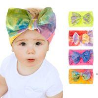 Womens tie-tintura headbands headwraps headwraps sundries turbante cabelo fashion acessórios de cabelo correndo headband esportes hwb7645