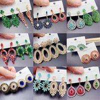 Schwere Industrie Zirkon Baumeln Ohrringe Für Frauen Mode Übertriebene Farbe Strass Böhmen Eardrop Edelstein Flash Bohrschmuck