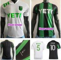 Versión del jugador 2021 2022 Cecilio Austin FC Jerseys de fútbol anillo Besler Home Kit Negro Green 21 22 Camisetas de fútbol Camisetas Maillot de Foot