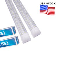 V Shaped Integrated LED Tubes 4ft 5ft 6ft 8ft 8 Feet 72 Inch Bubs T8 Tube Lights Double Sides Cooler Door Freezer Shop Lighting USALIGHT