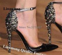 Robe chaussures bling féminin mode pointu one rive-d'œuvre rivet stiletto pompes de talon gold léopard pointe talons hauts