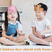 Cartoon Animal Pattern Children's Mask Transparent Full Face Anti-fog Isolation Anti-splash Cover Glasses Safety Protection