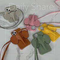 Cell Phone Cases Luxury Fashion Elephant CC VV Loe Armband Handbag Wallet Clip Card Pocket For Iphone 6 7 8 x xr xs 11 12 Pro MINI Max Plus