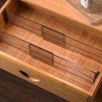 Hooks & Rails Durable Drawer Cabinet Storage Partition Divider Adjustable DIY Drawers Organizer Kitchen Cutlery Separator
