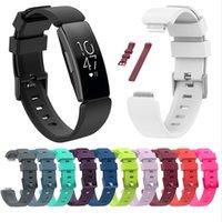 부드러운 실리콘 손목 밴드 스트랩 교체 스포츠 시계 밴드 Fitbit Inspire HR Bracelet Correa 액세서리