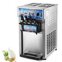 Commercial Ice Cream Machine Small Desktop Soft Serve Ice Cream Makers Electric Three Flavors Sweet Cone Vending Machine 110V 220V