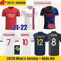 21 22 Digital 4th Maillot Lyon Soccer Jerseys MEMPHIS 2021 2022 Olympique Lyonnais L.PAQUETA OL AOUAR TOKO EKAMBI Football Shirts KADEWERE Mens Jersey Kids Kits