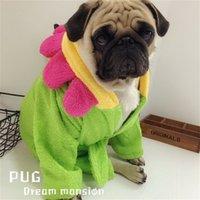 Pijamas de perros Perros de invierno para perros Albornoz Albornoz Pug Chihuahua Ropa Perro Pet Cat Bathrobe Pequeños Perros Mascotas Ropa PET PET 912 R2