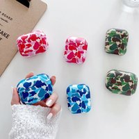 Army Camouflage Earphone Cases AirPods 1 2 Pro Case Hard PC Cute Camo Headset Charging Box Cover Accessories for Air Pods 3
