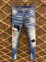 21s Mens jeans designer Ripped Skinny Trousers Moto biker hole Slim Fashion Brand Distressed ture Denim pants Hip hop Men D2 9807 dsquared2 dsquared 2 dsq