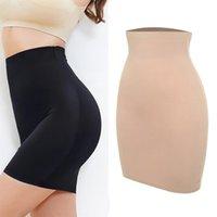 Kvinna sömlös bantning halv glida underkläder Shapewear High Waist Tummy Control Slips Body Shaper Underdress Petticoat Shapers Kjolar