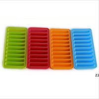 Glace Cube Moule Silicone Ice Cream Outils Popsicle Cube Plateau Freeze Moule de glace Pudding Biscuits au chocolat Moule Cuisine Outil HWA8734