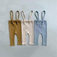 Trousers Baby Boy Girl Leggings Infant Kids Suspender Pantyhose Spring Autumn Girls Boys Solid Color Bandage Pants Born