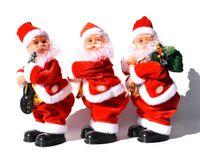 Рождественские подарки Хип встряхивание с музыкой Санты Клаус Форма Кукла Электрические игрушки Рождественские Украшения Поставки GWF9217