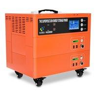 HITBOX DC 110V 2100W Lithium Ion Portable Station de banque de puissance solaire 1075Wh pour la centrale d'urgence solaire Double énergie superposée
