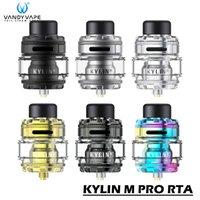 VANDY VAPE KYLIN M Pro RTA Atomizador 8ml E Cigarros Top Airflow Enage Anti-vazamento Tanque com A1 Malha Bobinas 100% Authentic