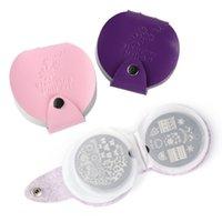 Perfections24 Слоты кожаные ногтя художественные штамп тарелка штамповка плиты розовый фиолетовый держатель для хранения мешок для хранения корпус чехол мешок маникюр организатор GL1588