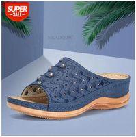 Women Sandals Wedges Shoes For High Heels Summer 2020 Flip Flop Chaussures Femme Platform Plus Size #gW7D
