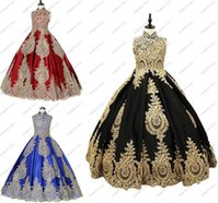 Girl's Dresses 2021 Vintage Gold Embroidery Lace Princess Black Royal Blue Burgundy Cupcake Little Girls Pageant Flower Girl Corset