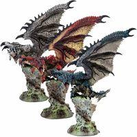 Movie Monster Hunter Silver Rathalos Azure Dragon Figuras de acción PVC Modelo de muñeca de juguete
