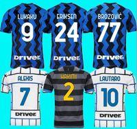 Inter 2021 22 Futbol Forması Lukaku Milan Vidal Barella Lautaro Eriksen Alexis Hakimi 20 21 Futbol Gömlek Üniformaları Erkekler Boyut S-4XL
