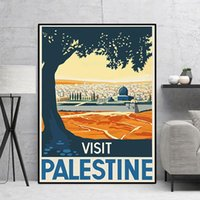 Paintings Visit Palestine Canvas Wall Art Painting Poster Prints Pictures For Living Room Decoration Home Oil Decor Frame