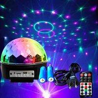 Charging Bluetooth speaker Ring Crystal magic ball KTV bar flash laser household led seven color decoration light
