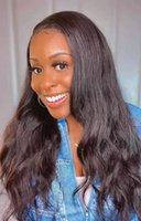 Human Hair Wigs For Black Women 4x4 Front Lace Wig Body Wave Natural 1B Color Brazilian Peruvian Indian Malaysian Virgin Remy Hair Wigs With Baby hair