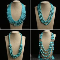 Chokers Vintage Ethnic Women Statement Long Necklace African Jewelry Ladies Party Wedding Accessories Handmade Sweater Fashion