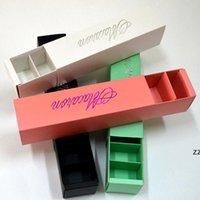 Makaronverpackung Hochzeit Süßigkeiten Gefälligkeiten Geschenk Laserpapierkästen 6 Gitter Schokoladenbox / Keks Box HWE10143