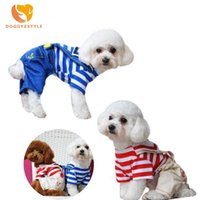 Dog Apparel Navy Jumpsuit Pet Clothes Puppy Cute Clothing For Small Medium Cat Sportswear Outfit Spring Summer Costumes DOGGYZSTYLE